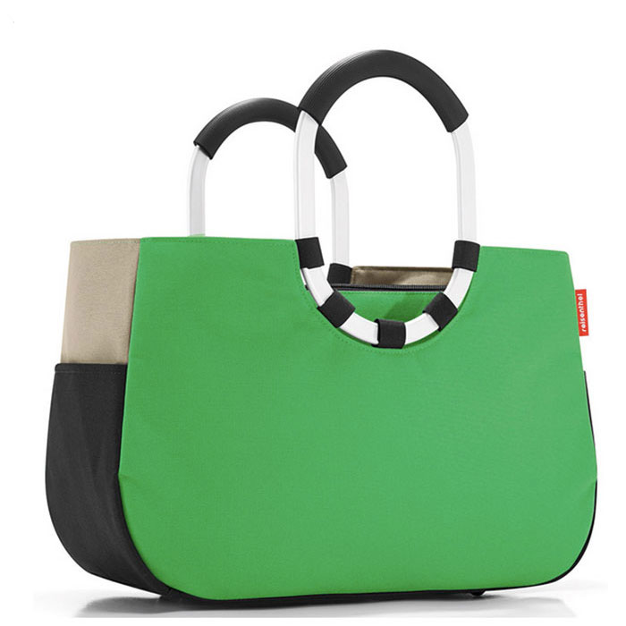 Сумка Loopshopper M patchwork green Reisenthel