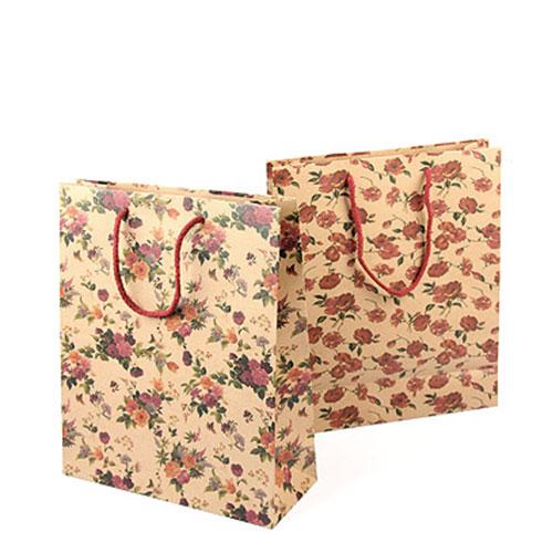Подарочная сумка - крафт - палисадник - 18Х23Х8