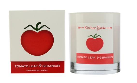 Свеча ароматическая в стекле Томатный лист и герань Wax Lyrical
