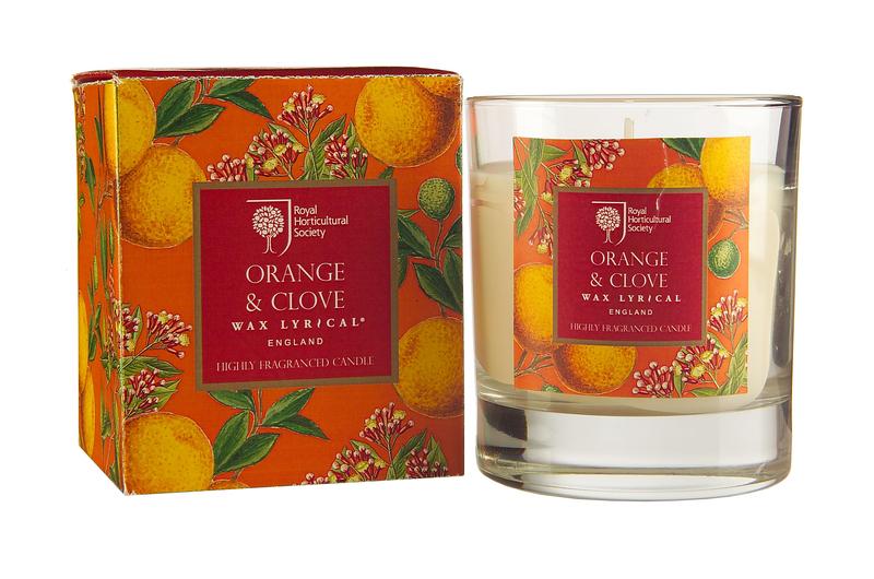 Свеча ароматическая в стекле Апельсин и гвоздика Wax Lyrical