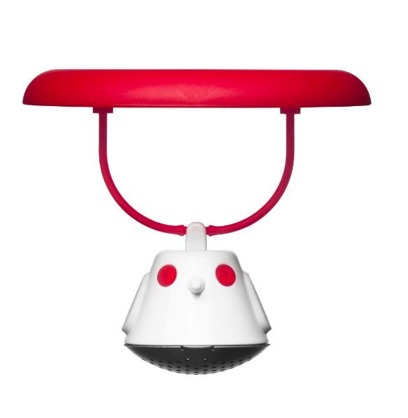 Емкость для заваривания чая с крышкой birdie swing красная
