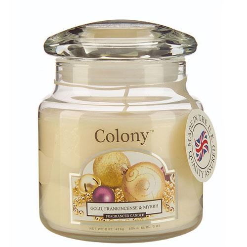 Свеча ароматическая в стеклянной банке Новогодняя карамель средняя Wax Lyrical