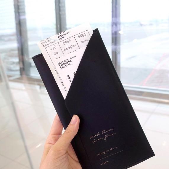 Холдер для документов ICONIC Slit passport wallet черный