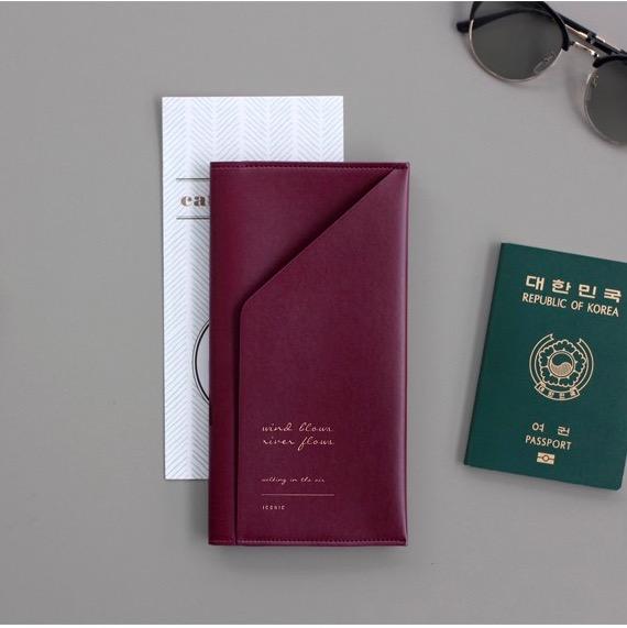 Холдер для документов ICONIC Slit passport wallet бордовый