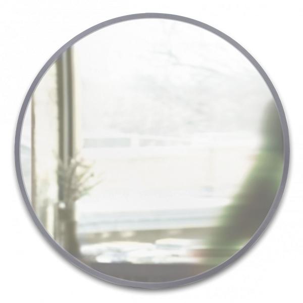 Зеркало настенное hub Д94 см серое