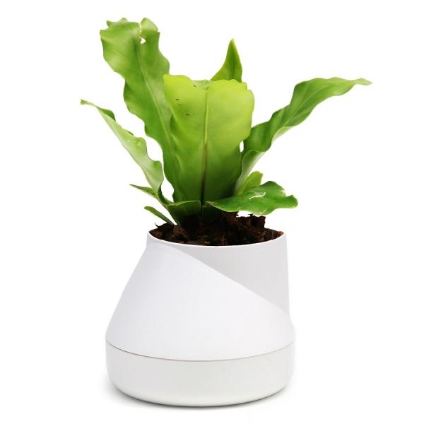 Горшок цветочный hill pot, маленький, белый