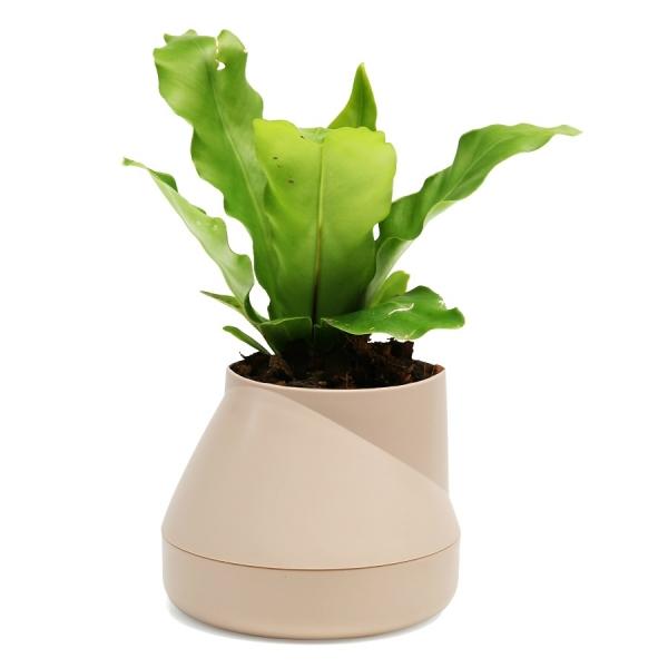 Горшок цветочный hill pot, маленький, кремовый
