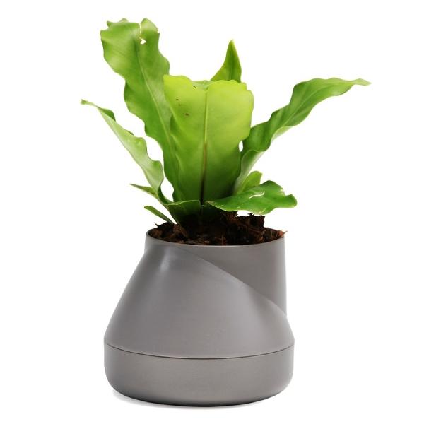 Горшок цветочный hill pot, маленький, серый