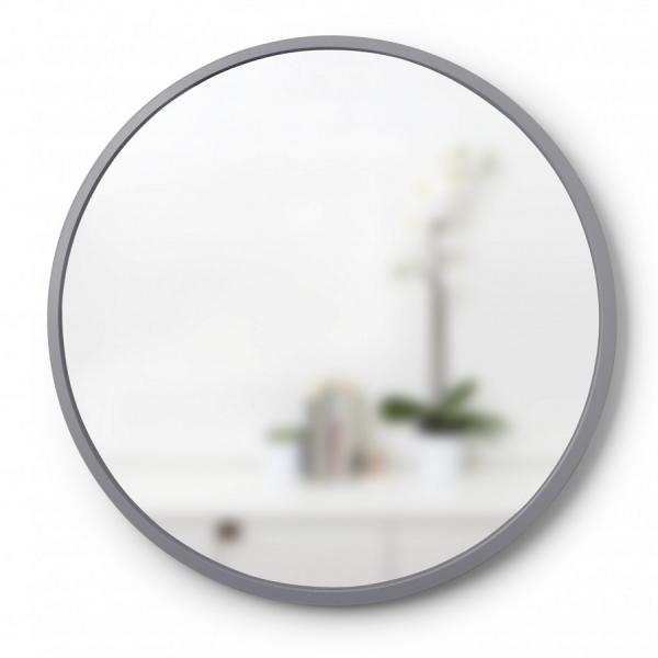 Зеркало настенное hub Д61 см серое