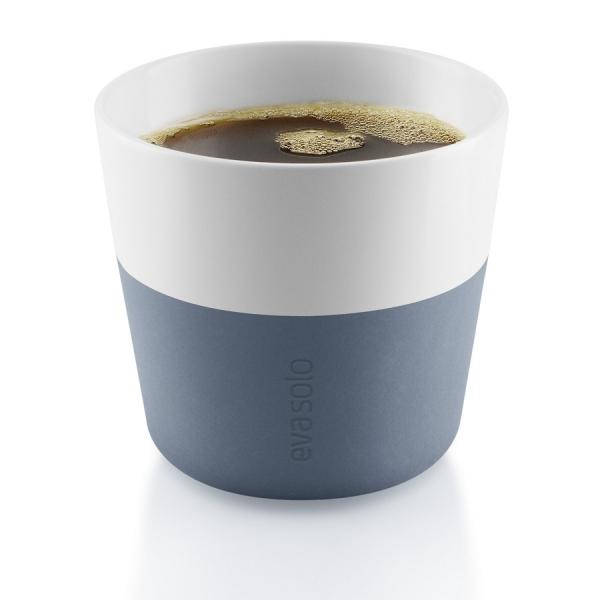 Чашки для лунго, 2 шт., синяя сталь