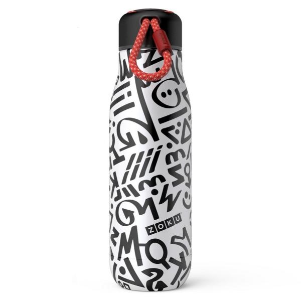 Термос zoku 500 мл modern calligraphy