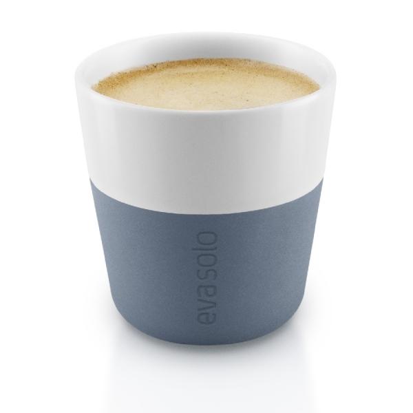 Чашки для эспрессо, 2 шт., синяя сталь
