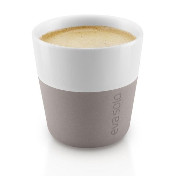 Чашки для эспрессо, 2 шт., пурпурно-серые