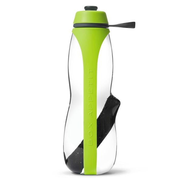 Эко-бутылка eau good duo с фильтром зеленая