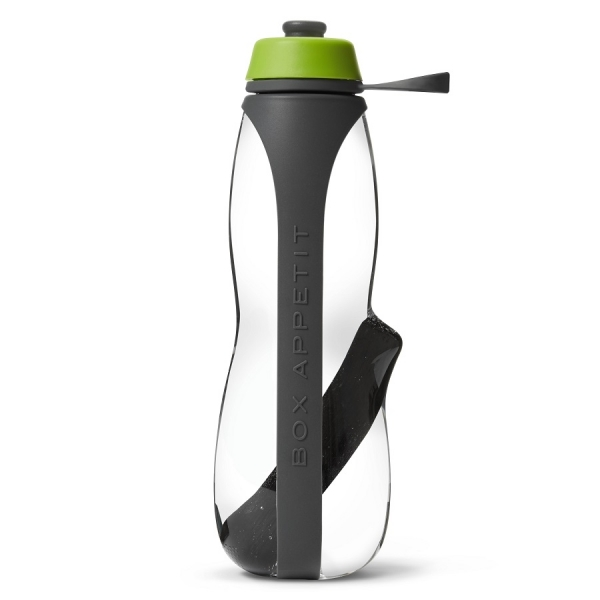 Эко-бутылка eau good duo с фильтром серый-зеленая