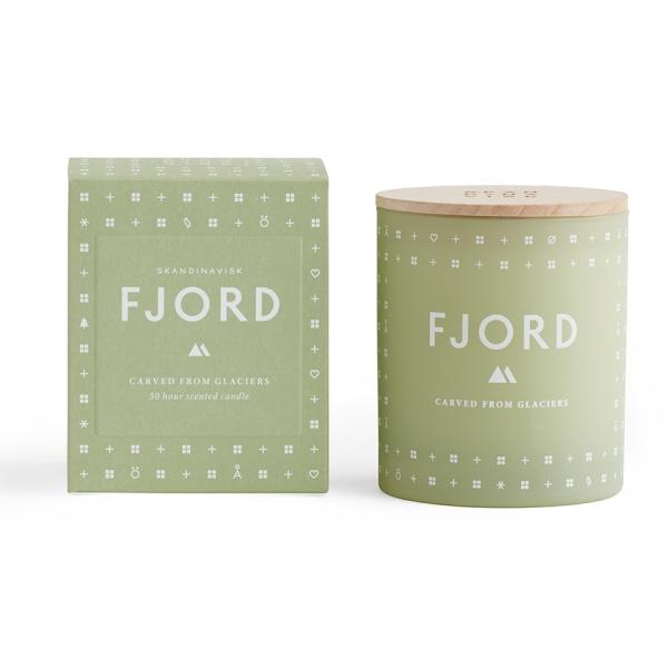 Свеча ароматическая fjord с крышкой, 190 г
