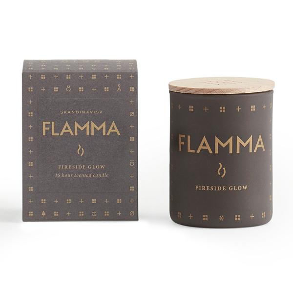 Свеча ароматическая flamma с крышкой, 55 г