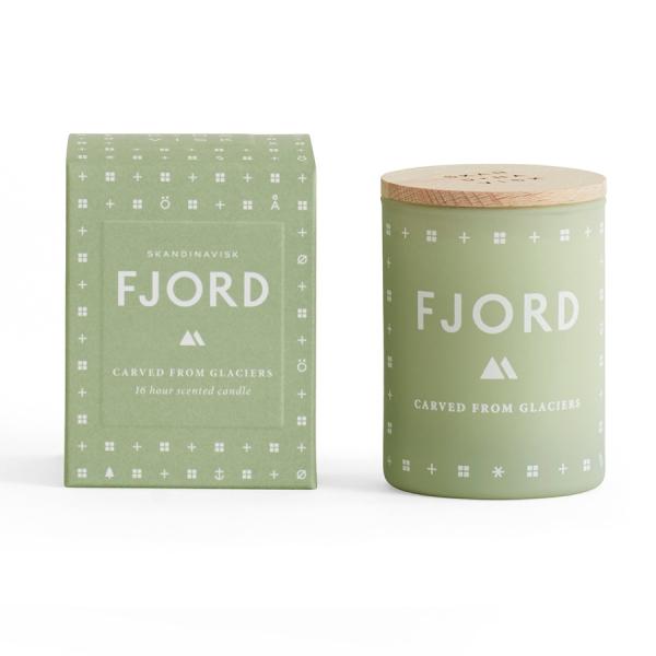 Свеча ароматическая fjord с крышкой, 55 г