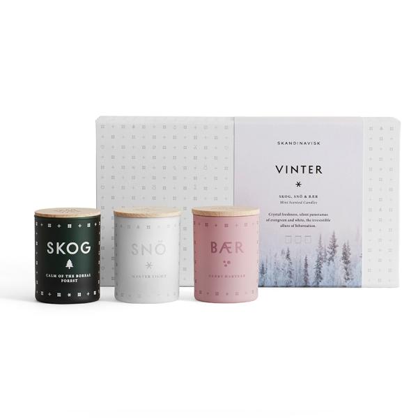Набор из 3 ароматических свечей winter