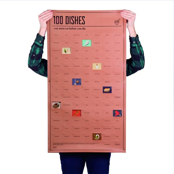 Постер «100 блюд, которые нужно попробовать, прежде чем умереть»