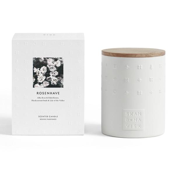 Свеча ароматическая rosenhave с крышкой, керамика, 300 г