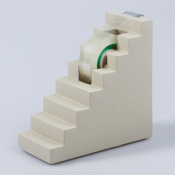 Диспенсер для скотча бетонный scala серый