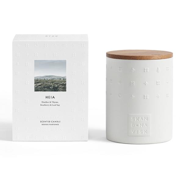 Свеча ароматическая heia с крышкой, керамика, 300 г