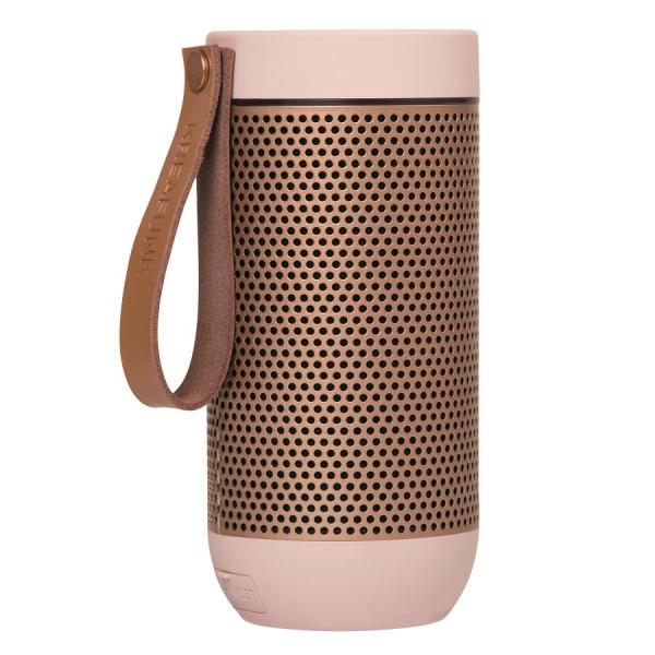 Колонка беспроводная с ремешком afunk, светло-розовая с бронзой