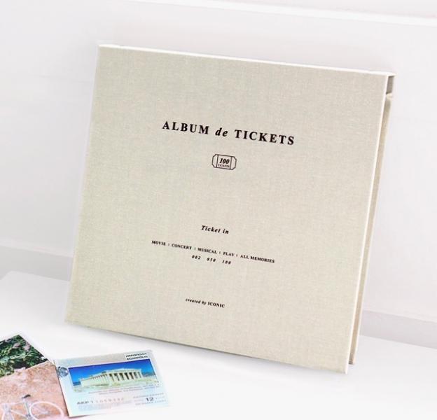 Альбом для воспоминаний Iconic Ticket in v.4 светло-серый