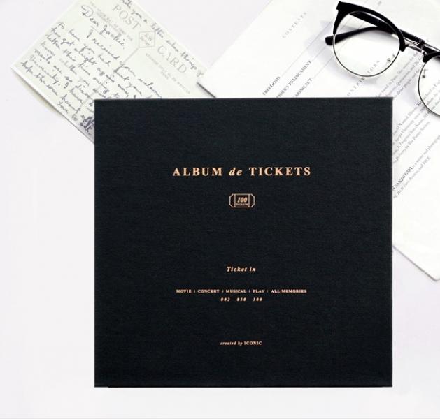 Альбом для воспоминаний Iconic Ticket in v.4 черный