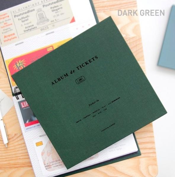 Альбом для воспоминаний Iconic Ticket in v.4 зеленый