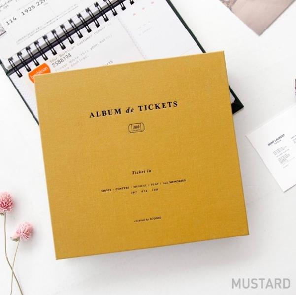 Альбом для воспоминаний Iconic Ticket in v.4 горчичный