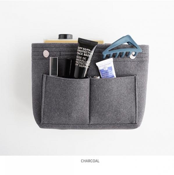 Органайзер для сумки фетровый M серый