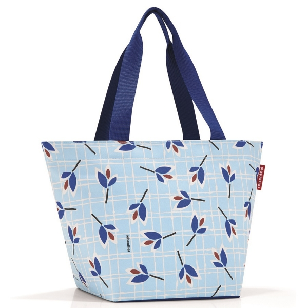 Сумка shopper m leaves blue