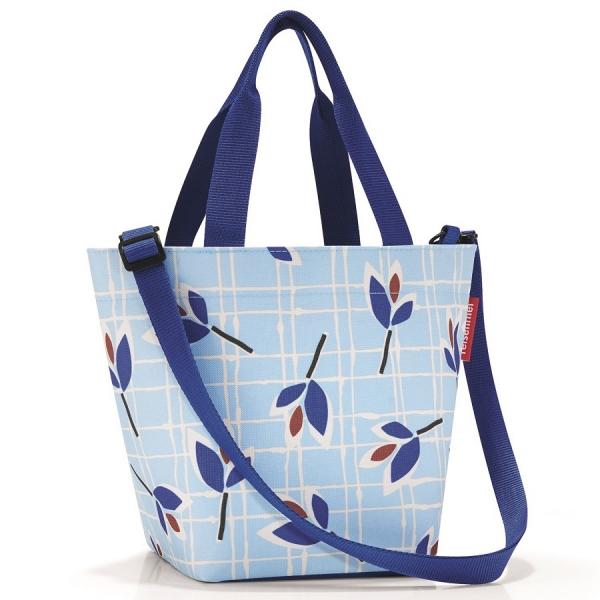 Сумка shopper xs leaves blue