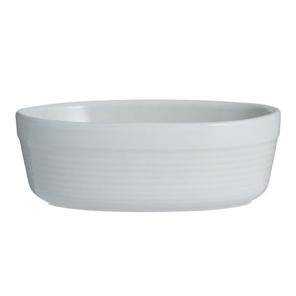 Блюдо для запекания william mason овальное 17 см белое