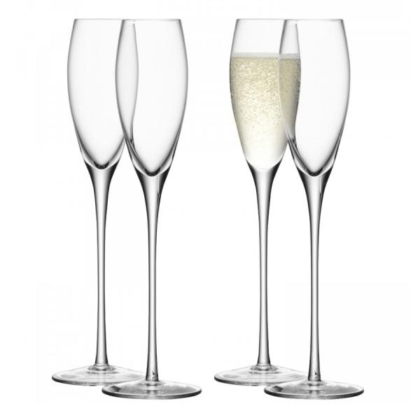 Набор из 4 бокалов-флейт wine 160 мл