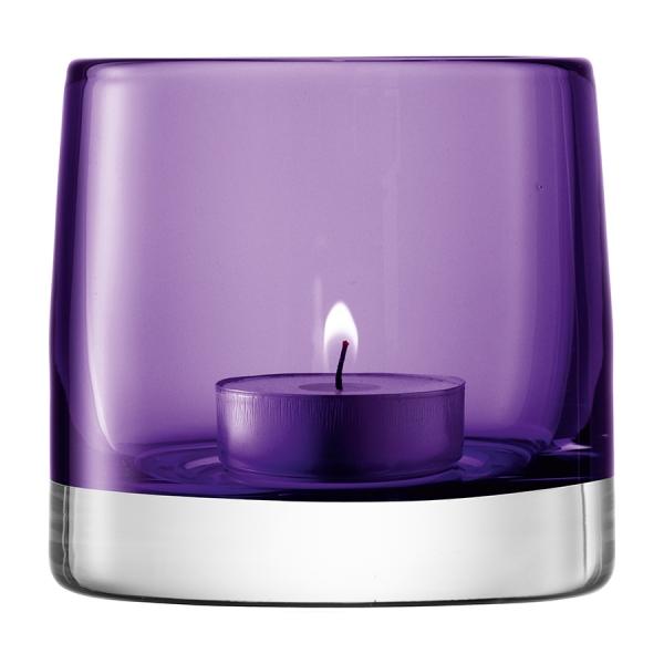 Подсвечник для чайной свечи light colour 8,5 см фиолетовый