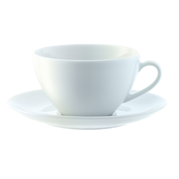 Набор из 4 округлых чашек с блюдцем dine 220 мл
