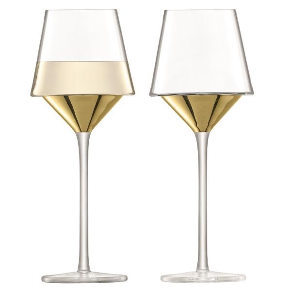 Набор из 2 бокалов для вина space 350 мл золото