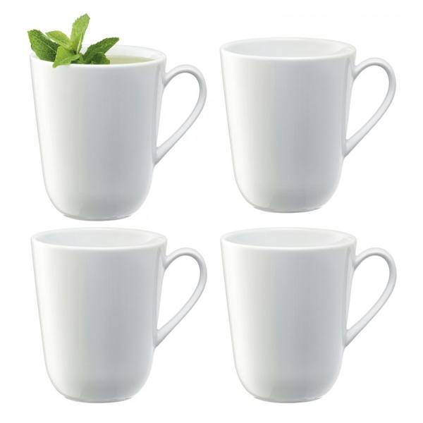 Набор из 4 округлых чашек dine 380 мл