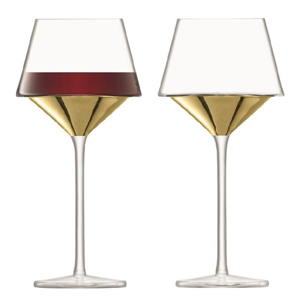 Набор из 2 бокалов для вина space 445 мл золото