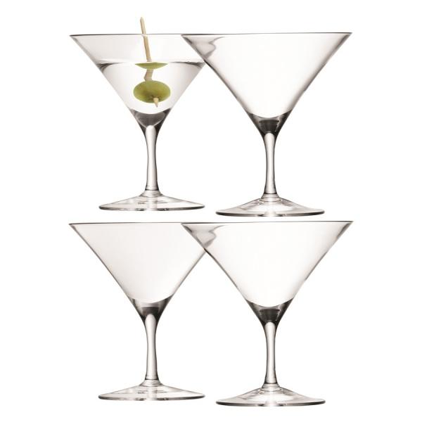 Набор из 4 бокалов для мартини bar, 180 мл