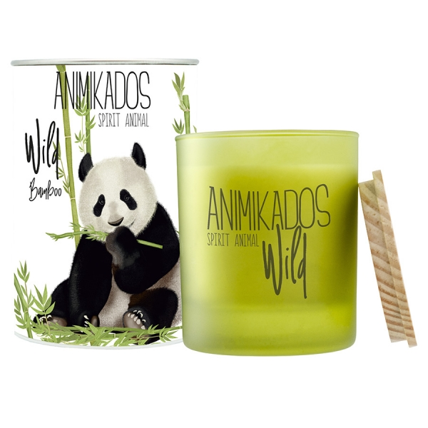 Свеча ароматическая panda - бамбуковый wild 40 ч