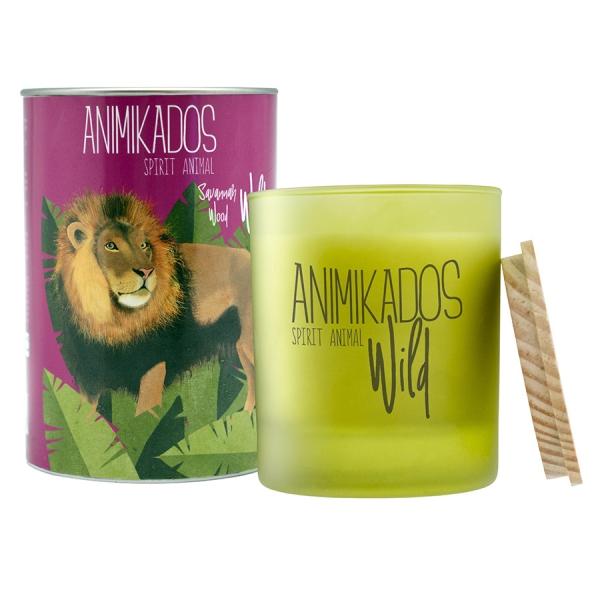 Свеча ароматическая lion - древесный wild 40 ч
