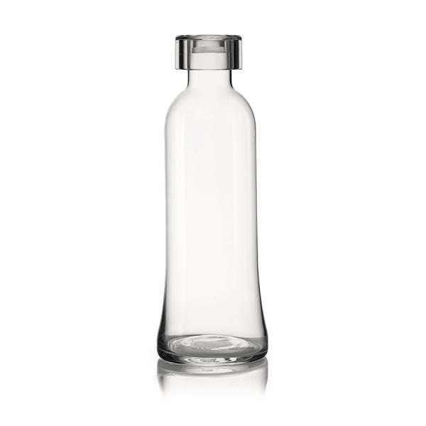 Бутылка для воды стеклянная 1 л прозрачная