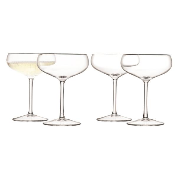 Набор из 4 бокалов для шампанского wine 215 мл