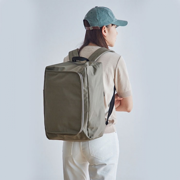 Рюкзак LITE BOX BACKPACK ITHINKSO серо-коричневый