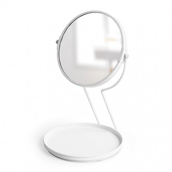 Зеркало настольное see me белое