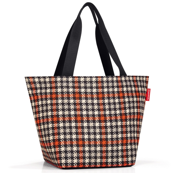 Сумка shopper m glencheck red